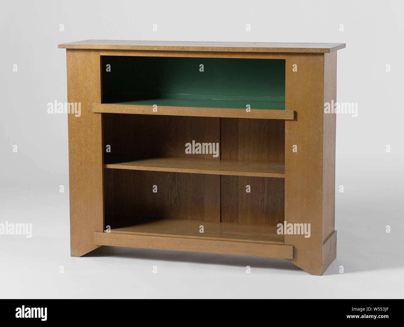 Bookcase With Three Shelves Bookcase Made Of Oak With Wide
