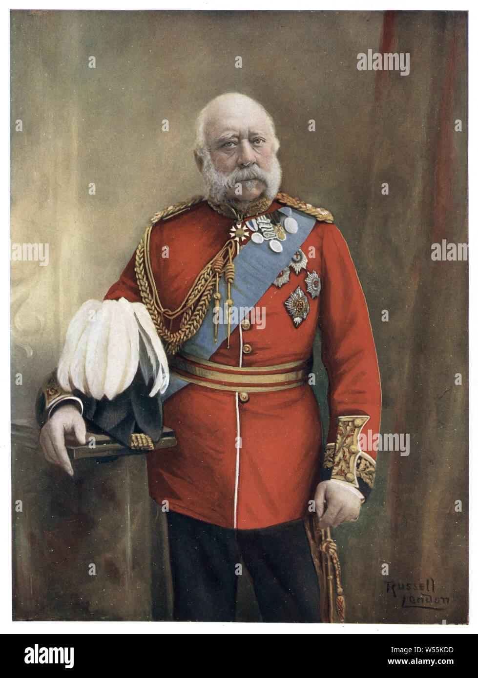 Prince George, Duke of Cambridge, (George William Frederick Charles; 26 March 1819 – 17 March 1904) was a member of the British Royal Family, a male-line grandson of King George III, cousin of Queen Victoria Stock Photo
