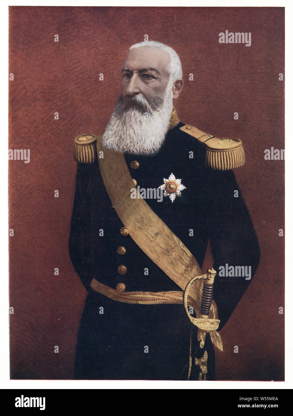 Leopold II (9 April 1835 – 17 December 1909) was King of the Belgians from 1865 to 1909. Stock Photo