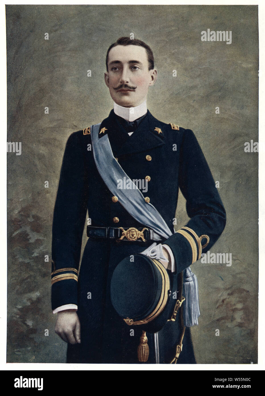 Prince Luigi Amedeo, Duke of the Abruzzi (29 January 1873 – 18 March 1933) was an Italian mountaineer and explorer, briefly Infante of Spain as son of Amadeo I of Spain, member of the royal House of Savoy and cousin of the Italian King Victor Emmanuel III. Stock Photo