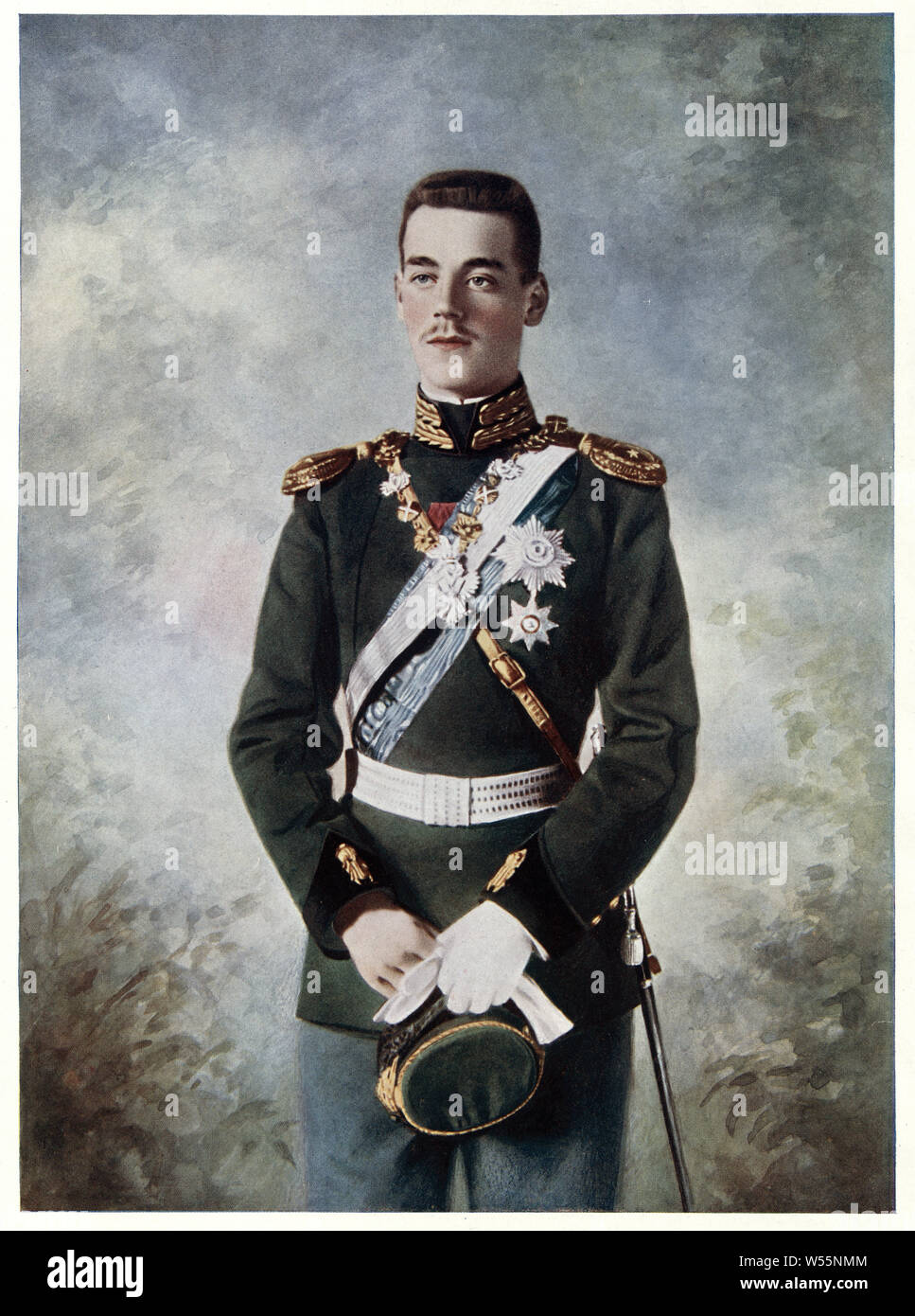 Grand Duke Michael Alexandrovich of Russia the youngest son and fifth child of Emperor Alexander III of Russia and youngest brother of Nicholas II. Stock Photo