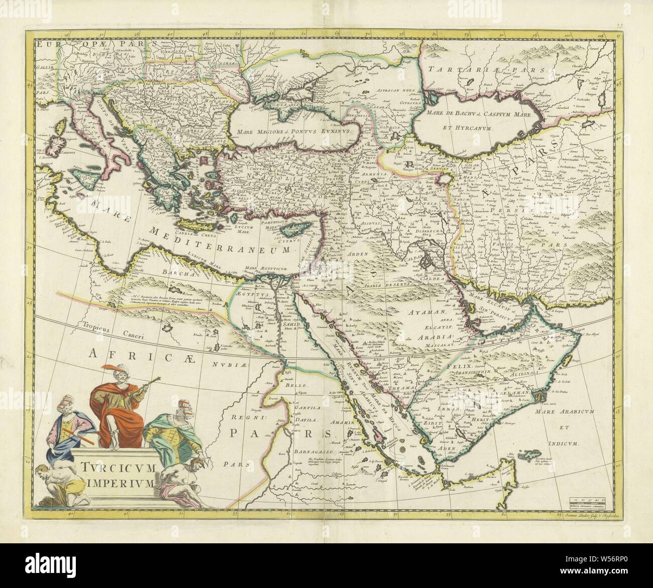 Map of the Turkish Empire, Tvrcicvm imperivm (title on object), Map