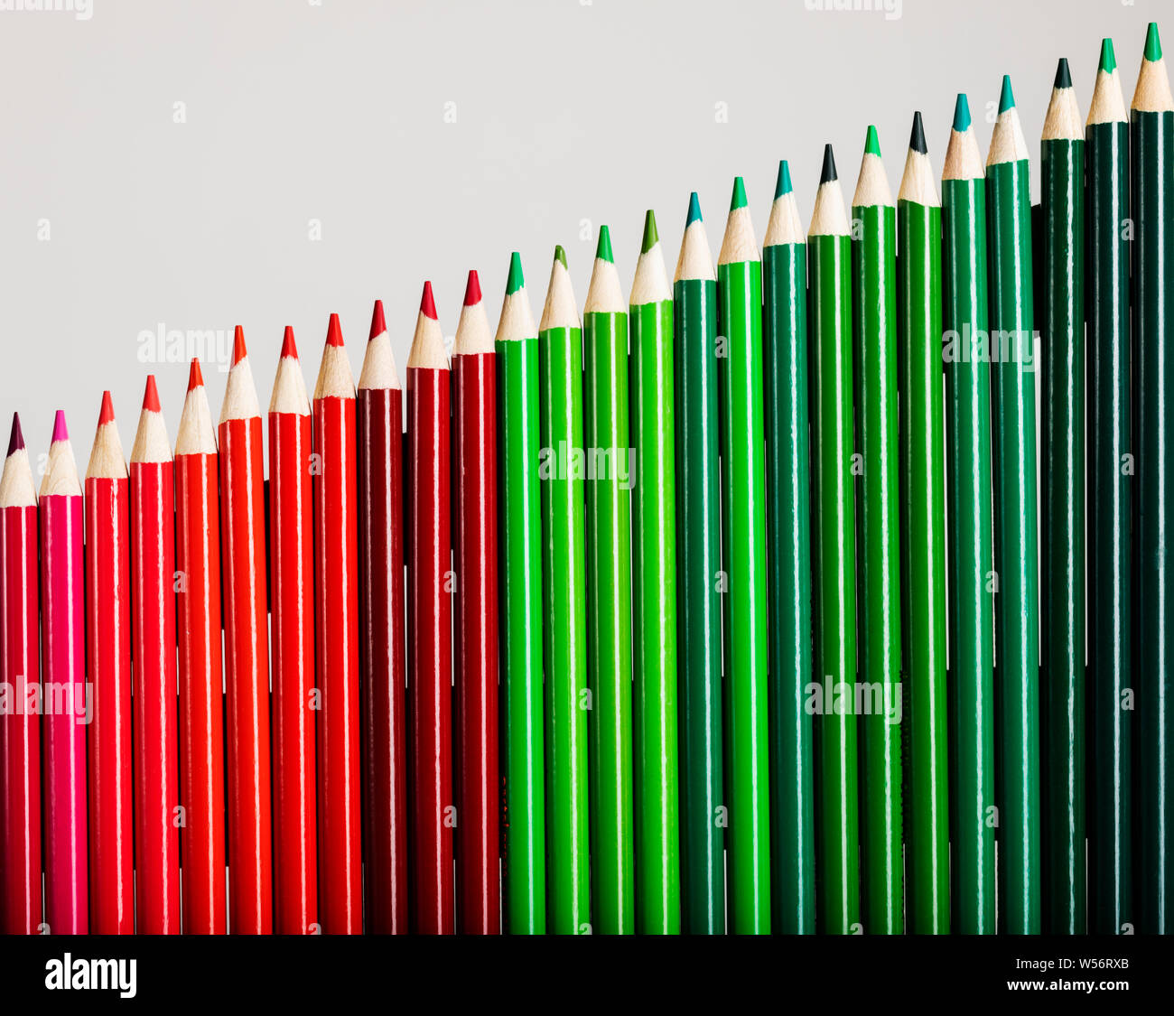 Colored pencils representing business graph of increasing profits Stock Photo