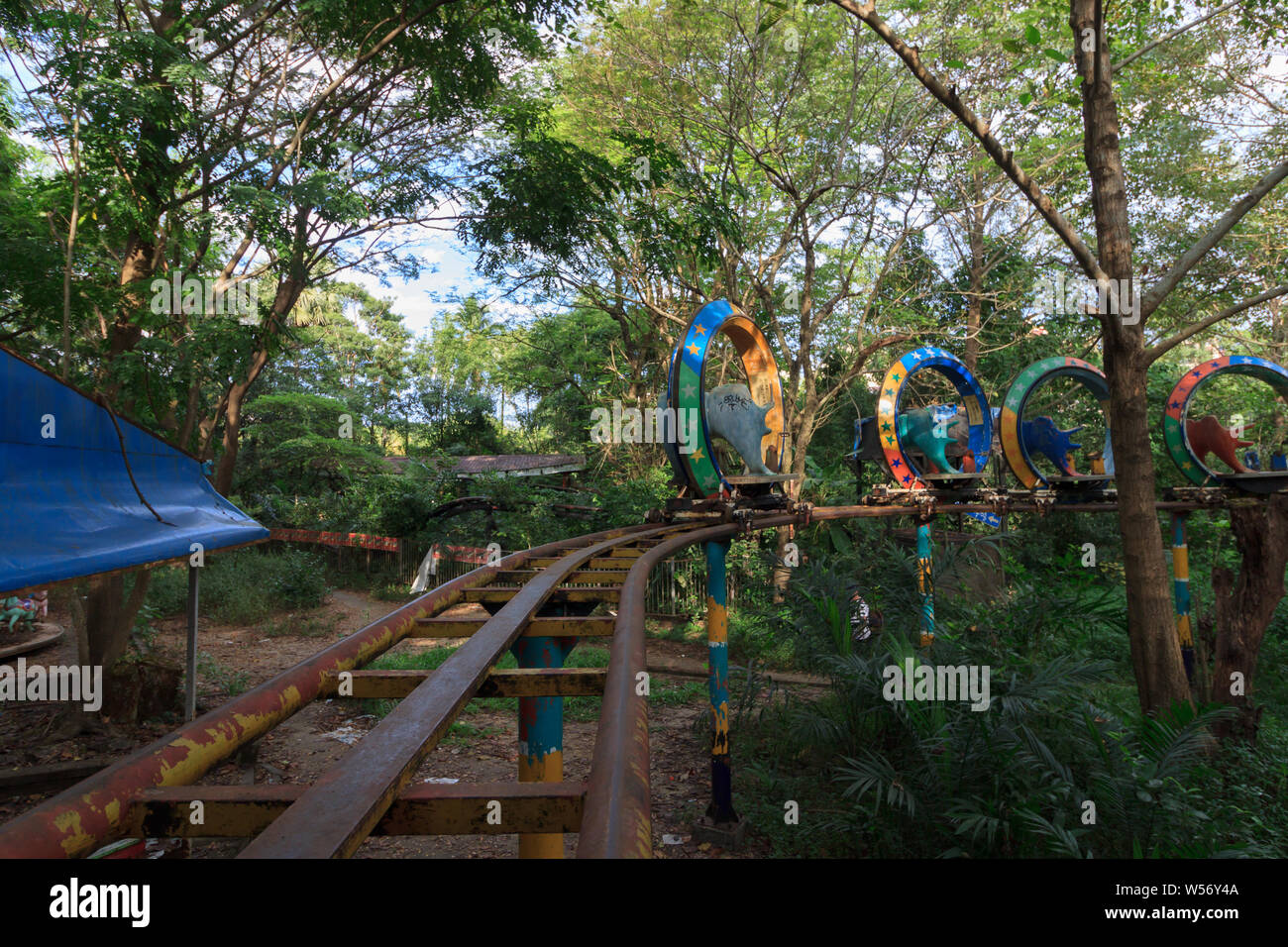 Creepy Abandoned Amusement Park In Yangon Formerly Known As Rangoon Myanmar Stock Photo Alamy