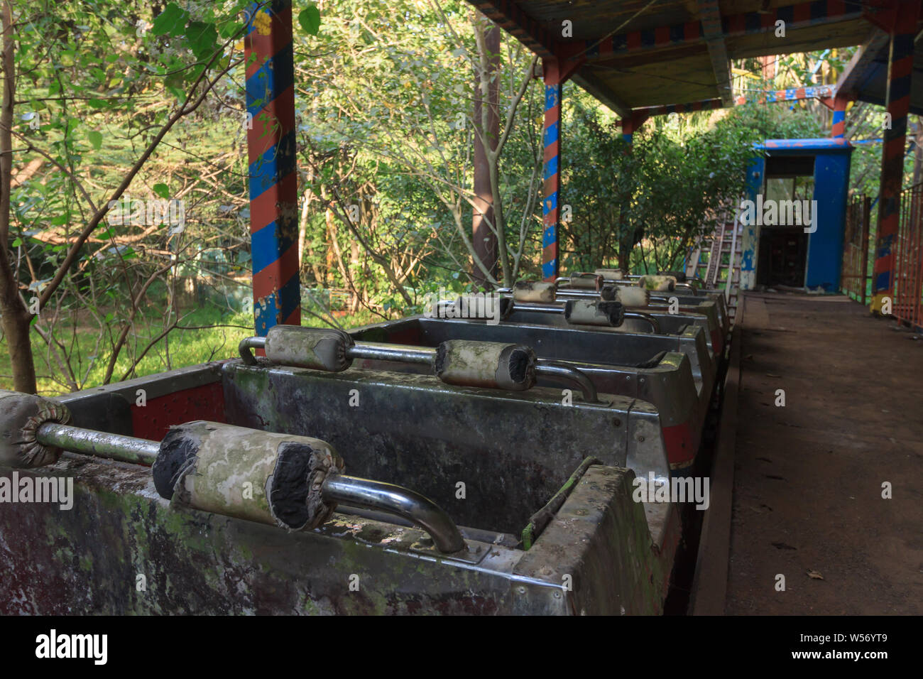 Creepy Abandoned Amusement Park In Yangon Formerly Known As Rangoon Myanmar Stock Photo Alamy