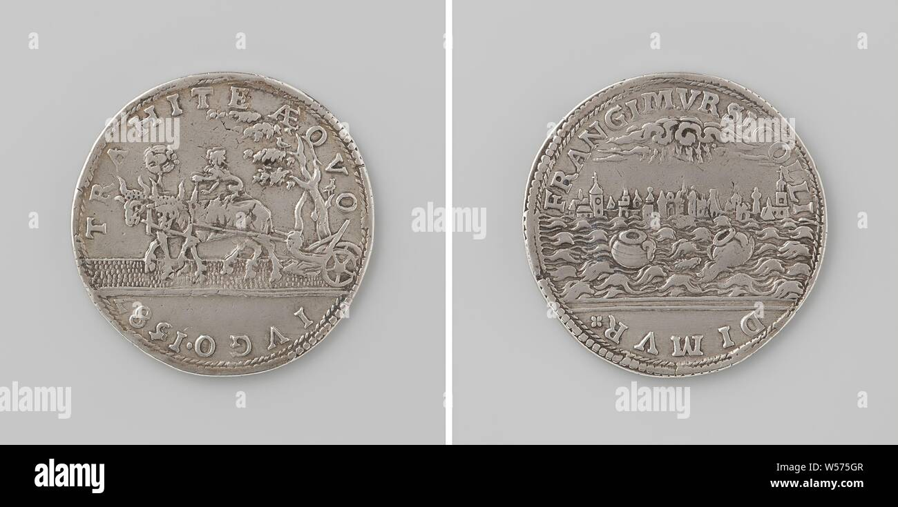 Encouragement of unity, Silver Medal  Front: span oxen for