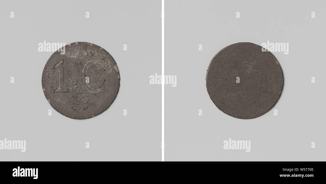 Prison in 's-Hertogenbosch, house coin worth 1 cent, single-sided