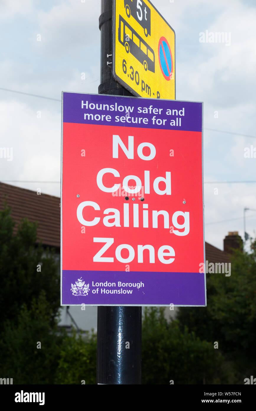 No Cold Calling,Salesman Callers External,Under Door Bell Warning Sticker Sign
