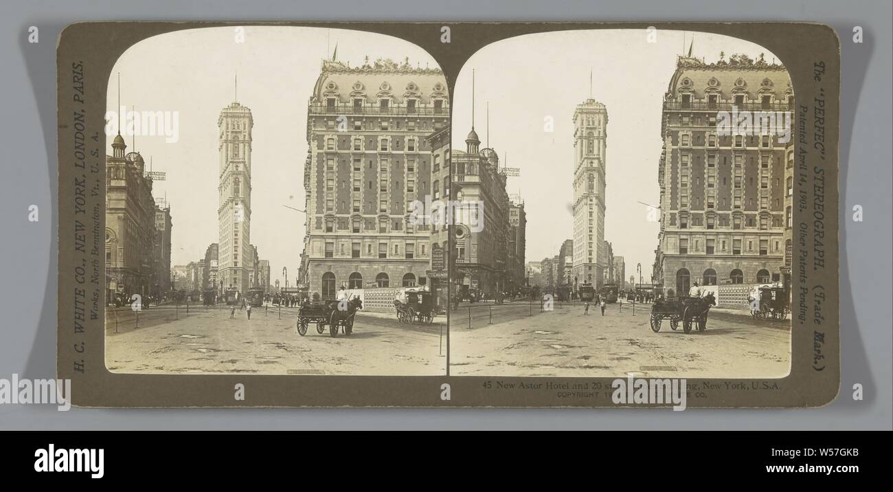 New Astor Hotel and 20 story Times Building, New York