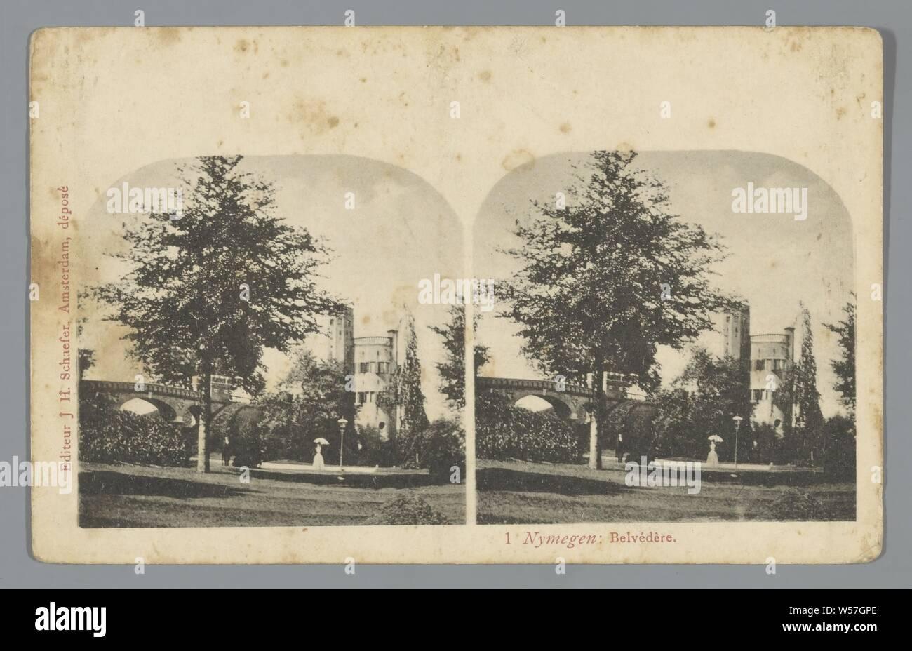 Nymegen. Belvedere, J.H. Schaefer, 1900 - 1940 Stock Photo
