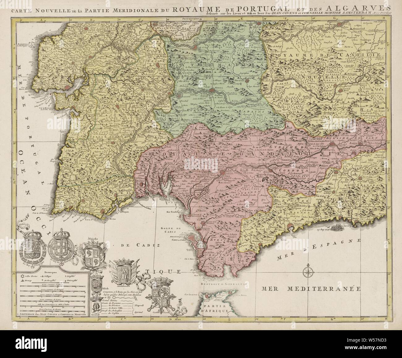 South Coast Of Spain Map.Castile Map Stock Photos Castile Map Stock Images Alamy