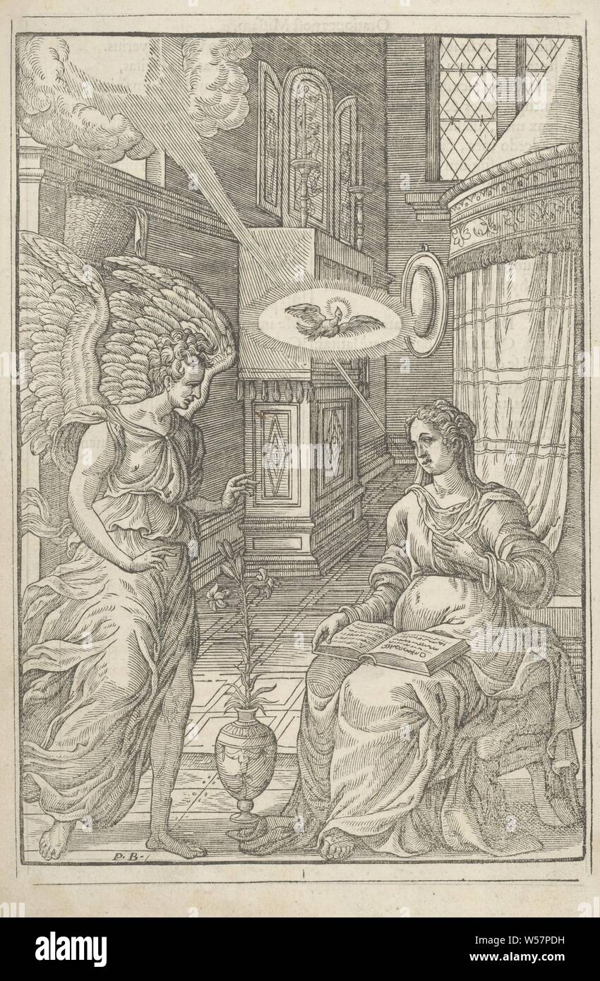 Annunciation The Angel Gabriel Announces To Maria That She Will