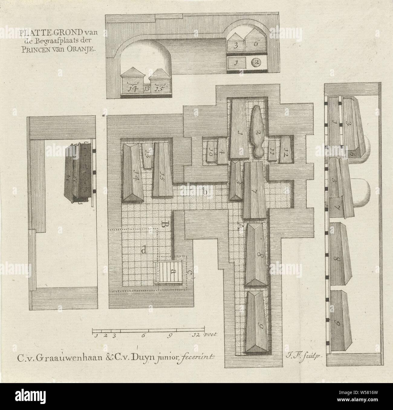 Floor Plan Of The Burial Cellar Of Oranje Nassau Floor Plan Of The Cemetery Of The Princes Of Orange Floor Plan Of The Burial Cellar Of Oranje Nassau Below The Nieuwe Kerk In Delft