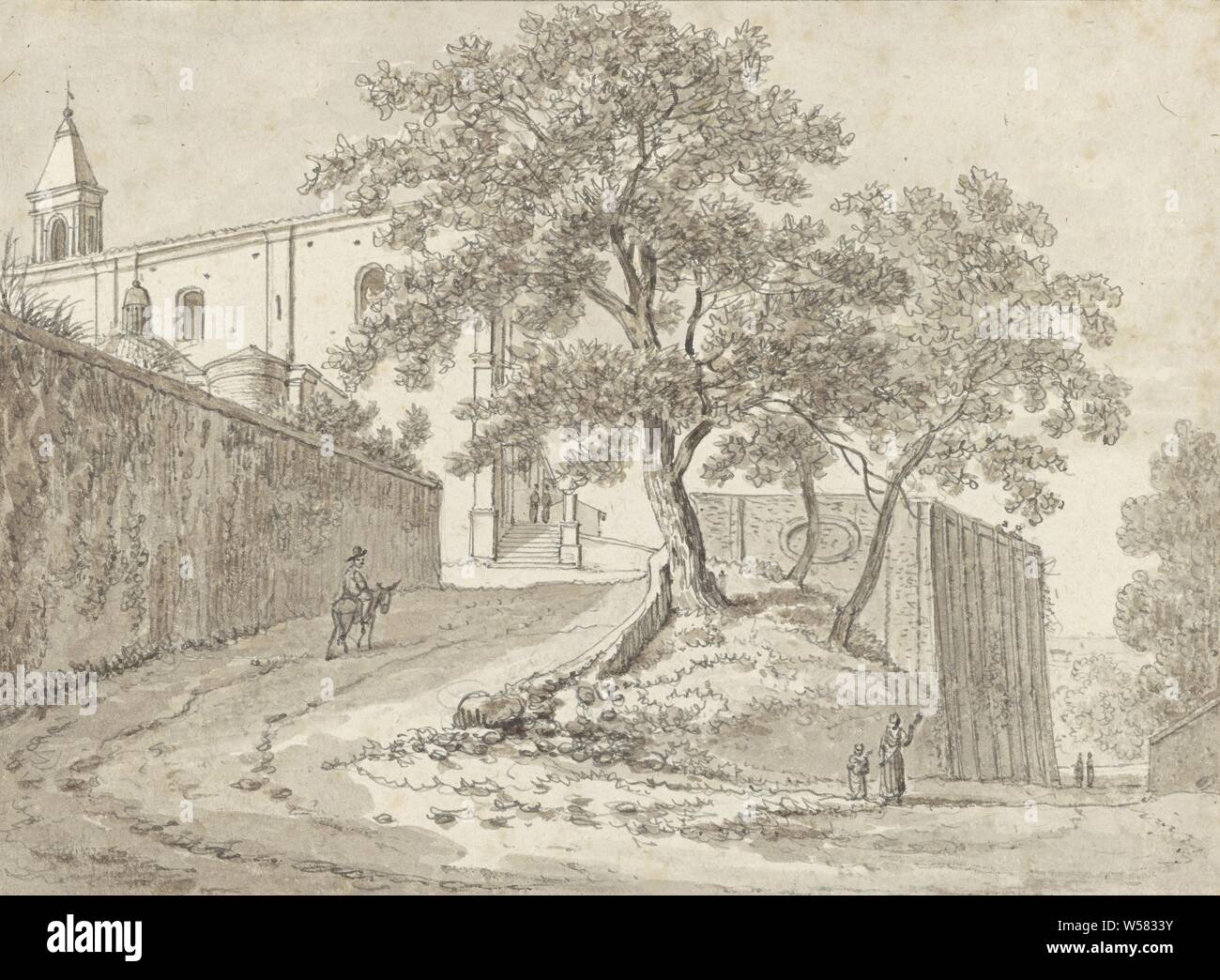A man on a donkey for San Pietro in Montorio, Rome, Drawing ...