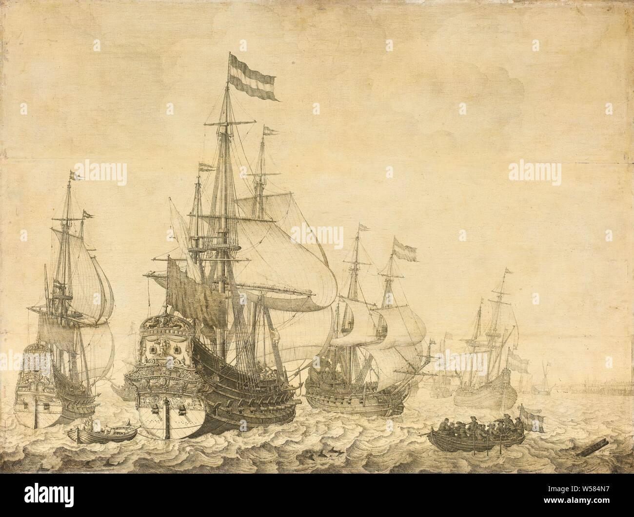 SHIPS LEXINGTON OF THE SEA BATTLE SAILS FLAGS HARPER/'S WEEKLY NAUTICAL ENGRAVING