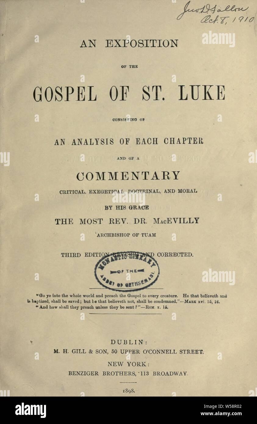 Gospel Of St Luke Stock Photos & Gospel Of St Luke Stock
