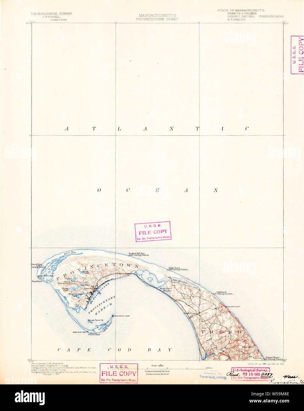 1836 Provincetown US Topographical Bureau