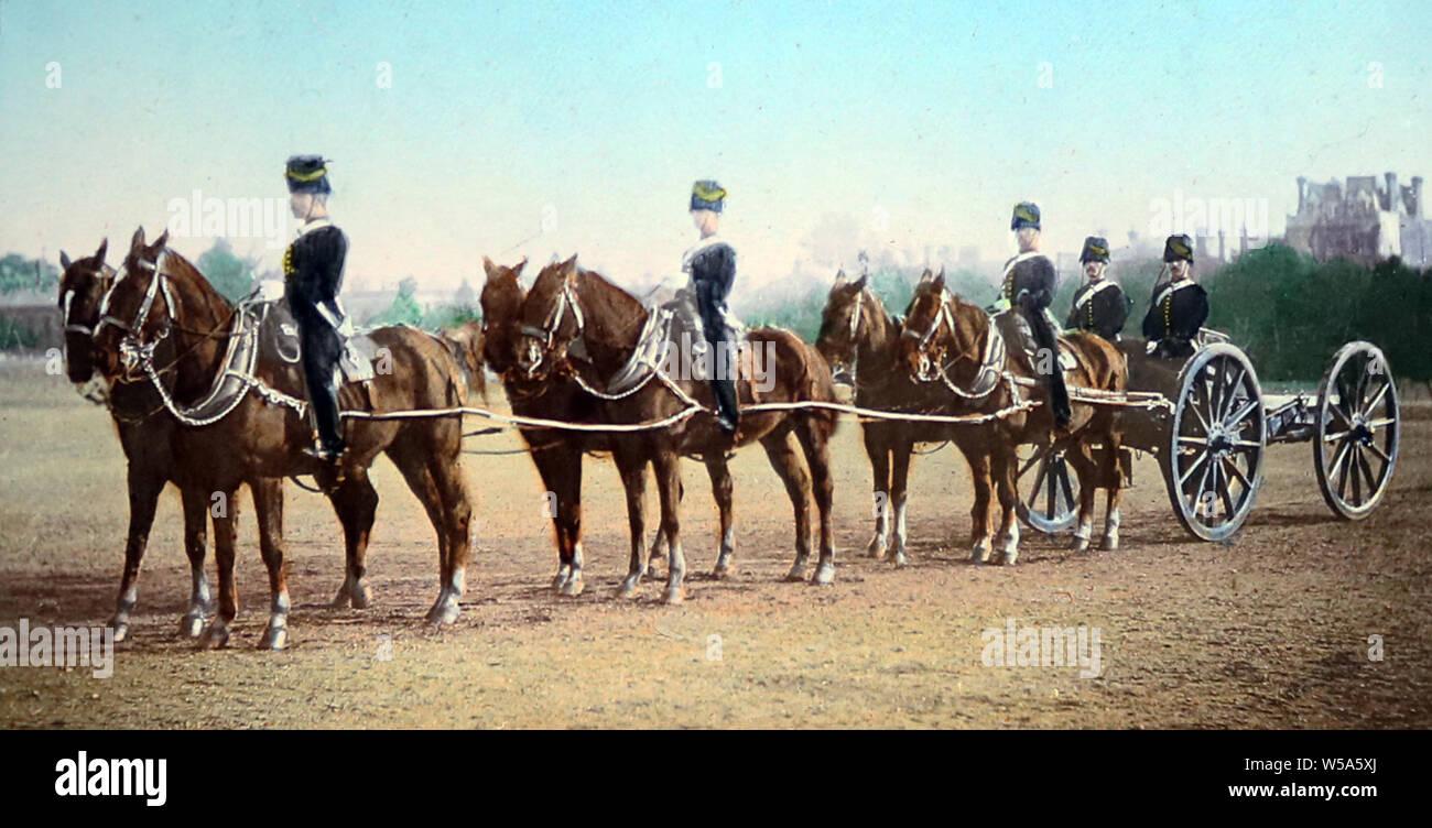 British Army Royal Horse Artillery K Battery Stock Photo Alamy