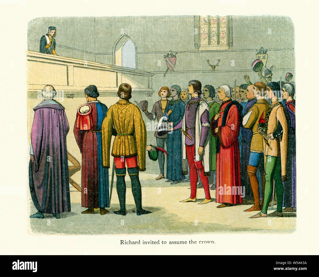 King Richard II being invited to assume the crown Stock Photo