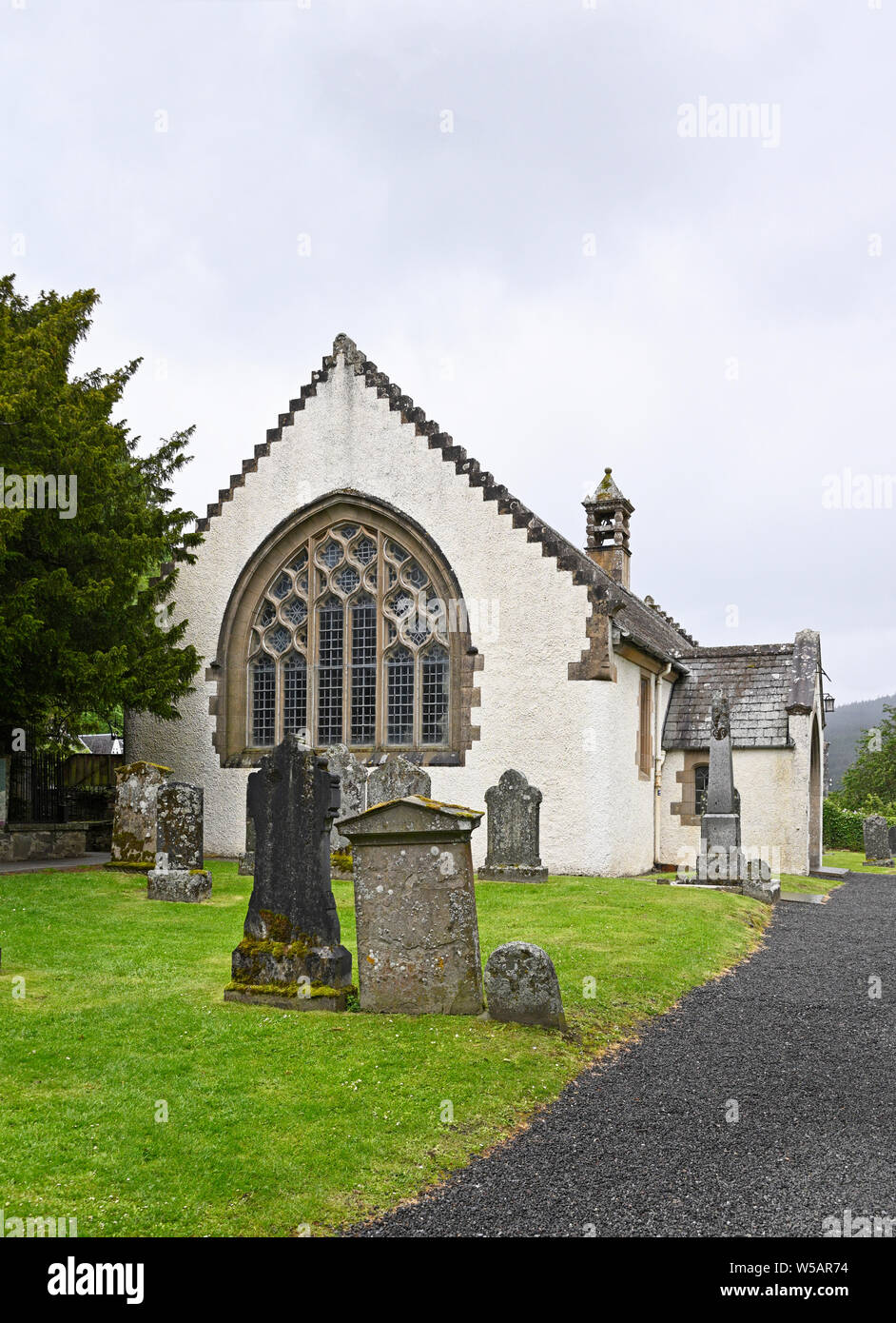 The Parish Church, Fortingall, Gern Lyon, Perth and Kinross, Scotland, United Kingdom, Europe. Stock Photo