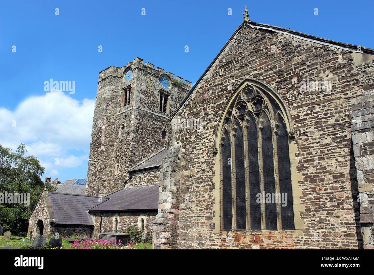 Church of St Mary and All Saints, Conwy, Wales Stock Photo