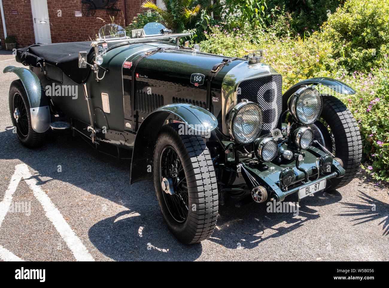 MK VI Bentley Speed 8 Le Mans, chassis powered by Rolls-Royce engine B80, 8 cylinders 5675 cc, 180 HP engine. Stock Photo