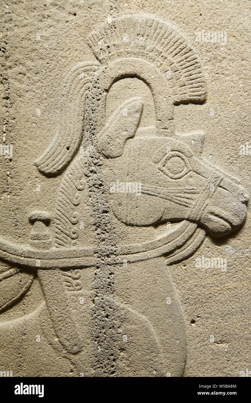 ANKARA, TURKEY - MAY 21, 2014 -  Chariot horse. Orthostat stele from Kargama about 800 BCE,  Ankara, Turkey Stock Photo