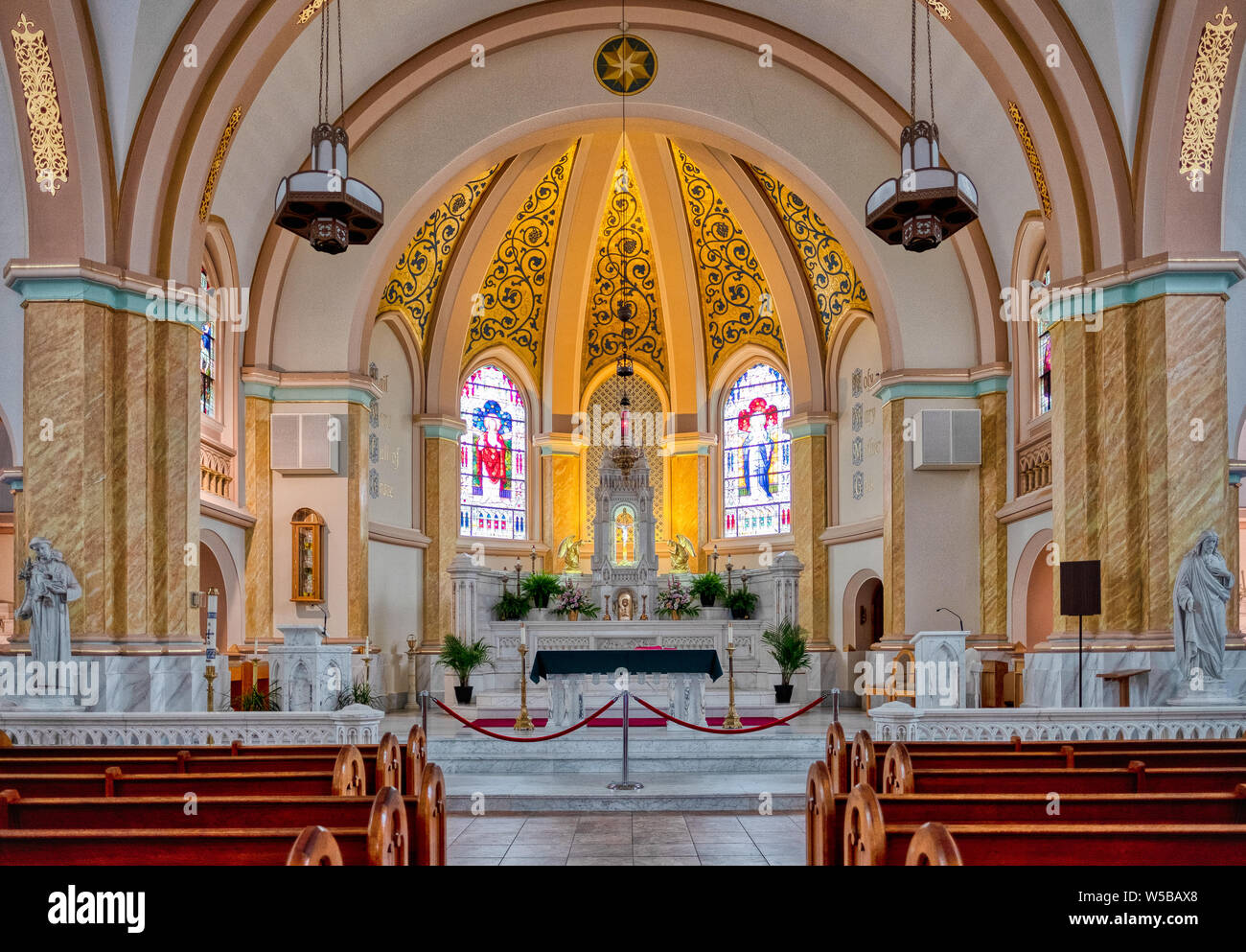 The sanctuary of Our Lady Star of the Sea Catholic Church in Cape ...