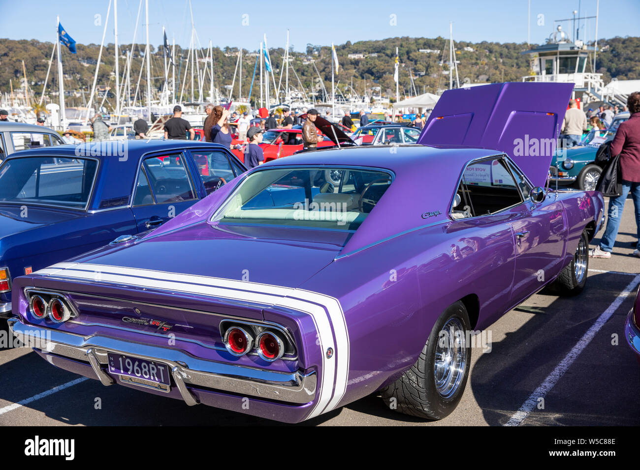 1968 Dodge Charger Rt 440 Classic American Muscle Car On Display At A Classic Car Show In Newport Sydney Australia Stock Photo Alamy