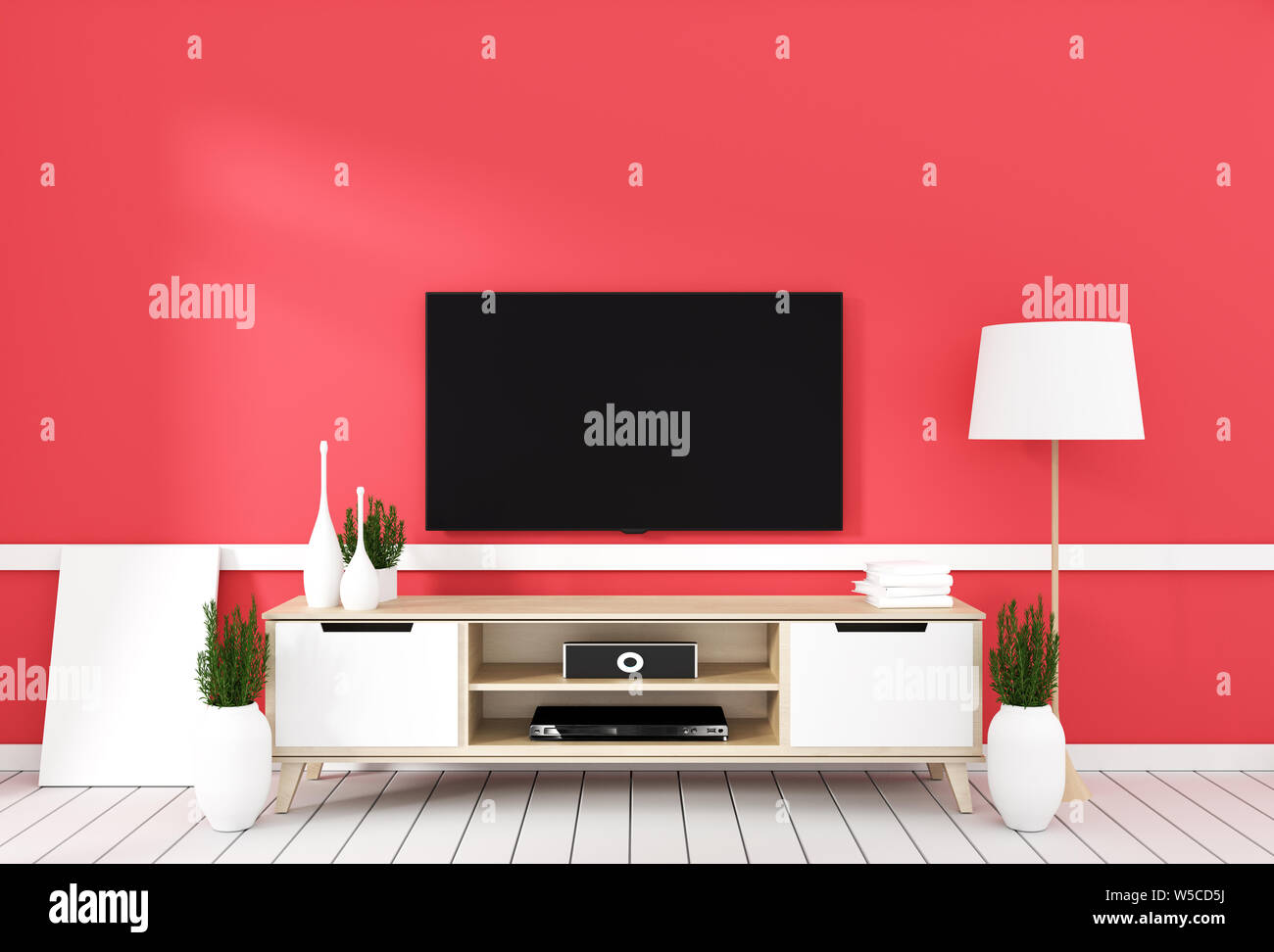 Contemporary Living Room Tv Furniture Home Wall Unit Stock Photos