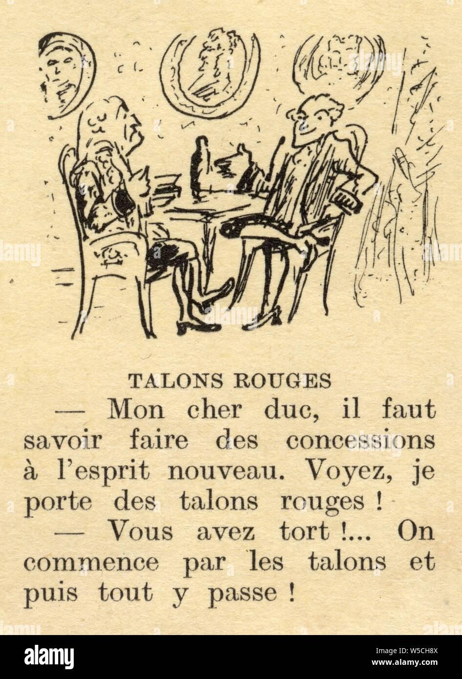 Histoire Drole Par Cami Talons Rouges Stock Photo Alamy