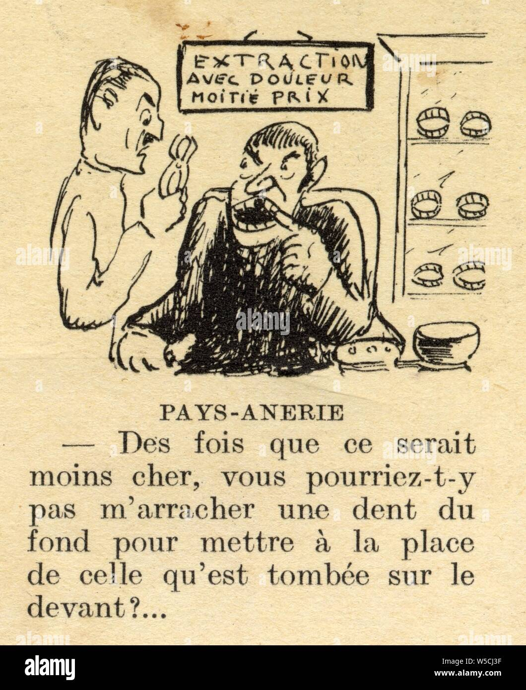 histoire drole.pays-anerie.1937 Stock Photo