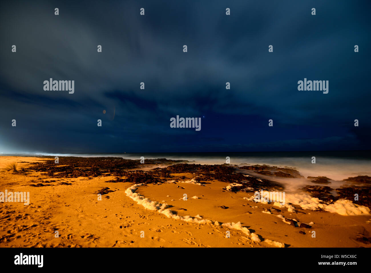 Bunbury Beach Western Australia Stock Photo