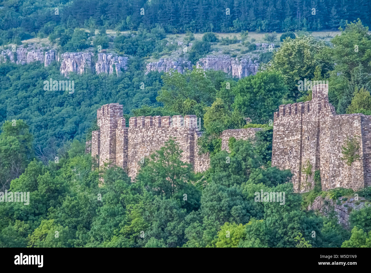 The medieval Tsarevets fortress, Veliko Tarnovo, Bulgaria. It was the capital of the Second Bulgarian Kingdom Stock Photo