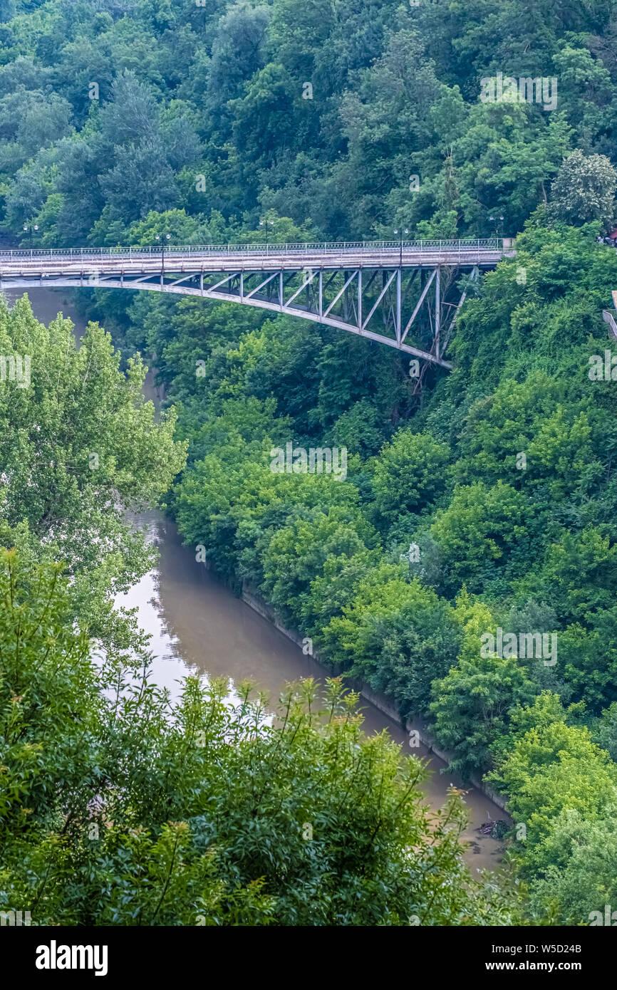 Veliko Tarnovo, City of the Tsars, on the Yantra River, Bulgaria. It was the capital of the Second Bulgarian Kingdom Stock Photo