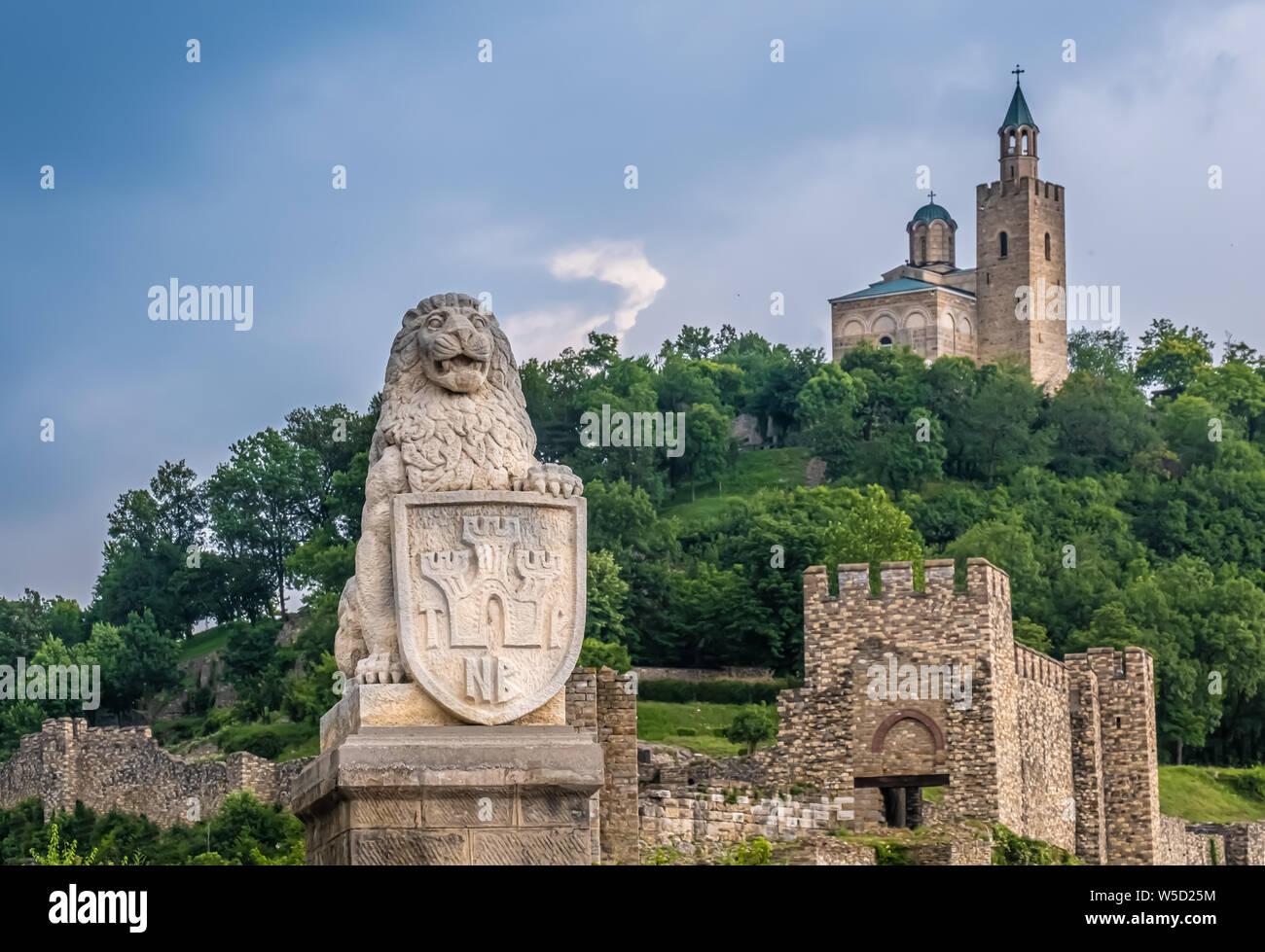 The medieval Tsarevets fortress, Veliko Tarnovo, Bulgaria. It was the capital of the Second Bulgarian Kingdom Stock Photo
