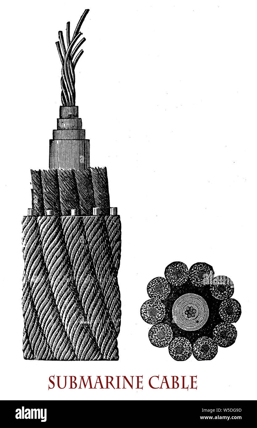 Electrical cable that is laid on the seabed for power or