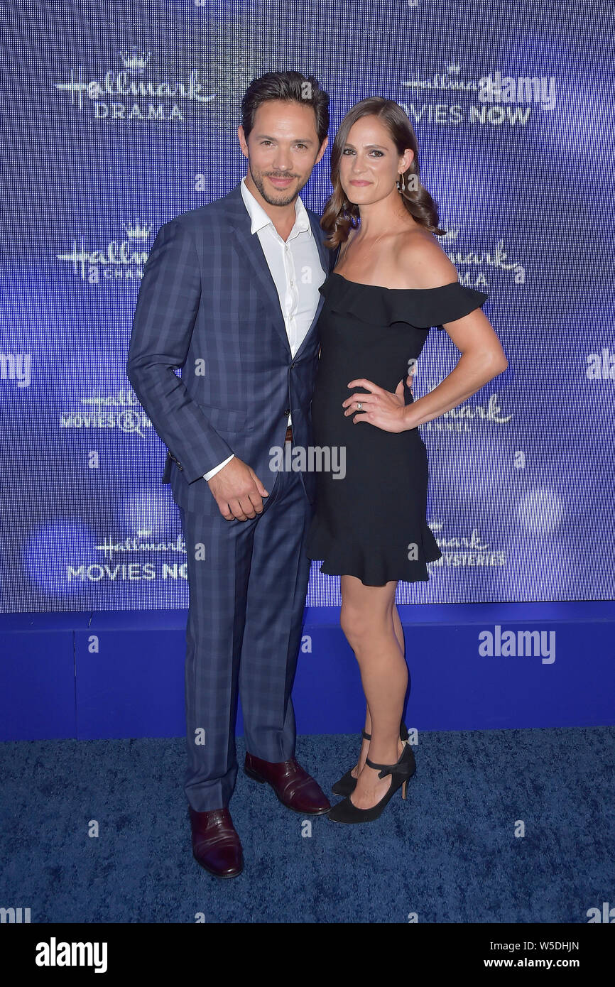 Michael Rady and wife Rachael Kemery at the Hallmark Channel ...