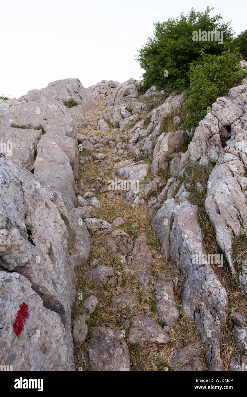 Tulove Grede, Velebit Mountain, Croatia Stock Photo