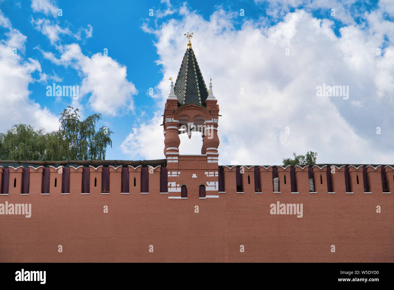 Tsar's Tower; eastern wall; time; Kremlin; Red Square; historical, landmark, building; Kitai-gorod; architecture; Moscow; Russia; city; tourism; trave Stock Photo