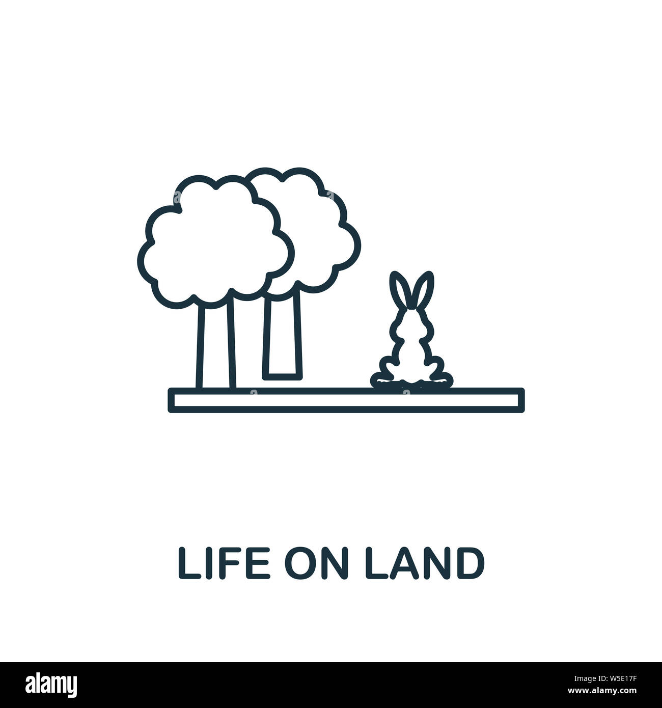 Life On Land outline icon. Thin line style from community icons collection. Pixel perfect simple element life on land icon for web design, apps Stock Photo