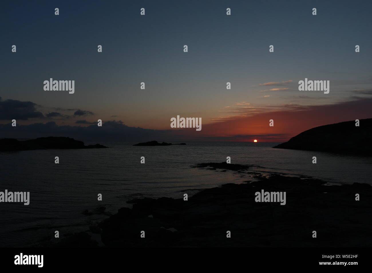 Claudy Sunset Stock Photo