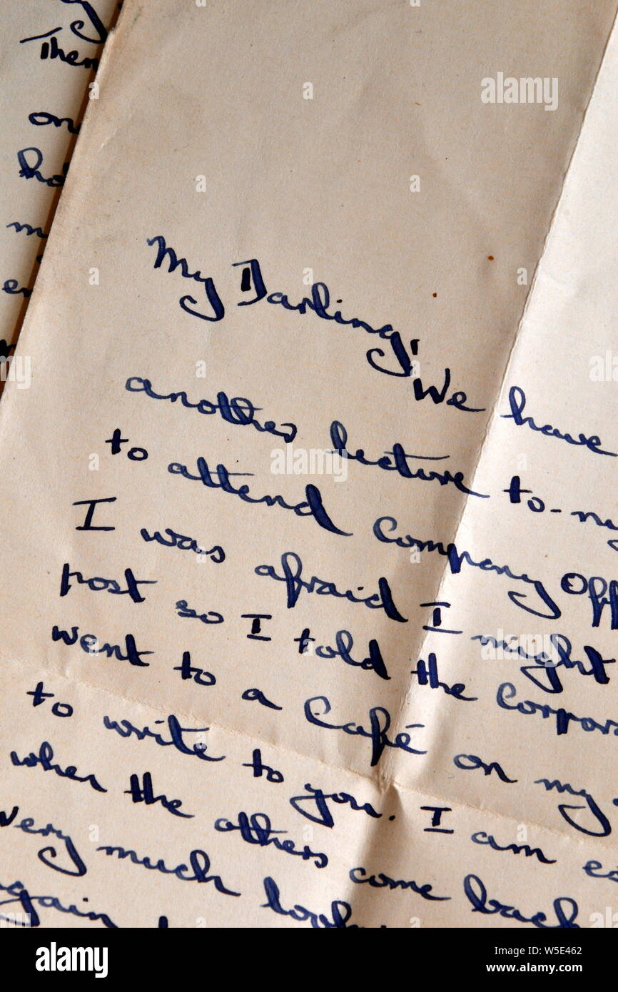 Romantic Letter To Wife From Husband from c8.alamy.com