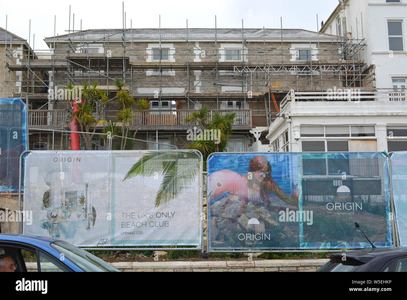 The Ocean Hotel in Sandown on the Isle of Wight, is left in a state of disrepair and the hotel is now in the hands of administrators. Stock Photo