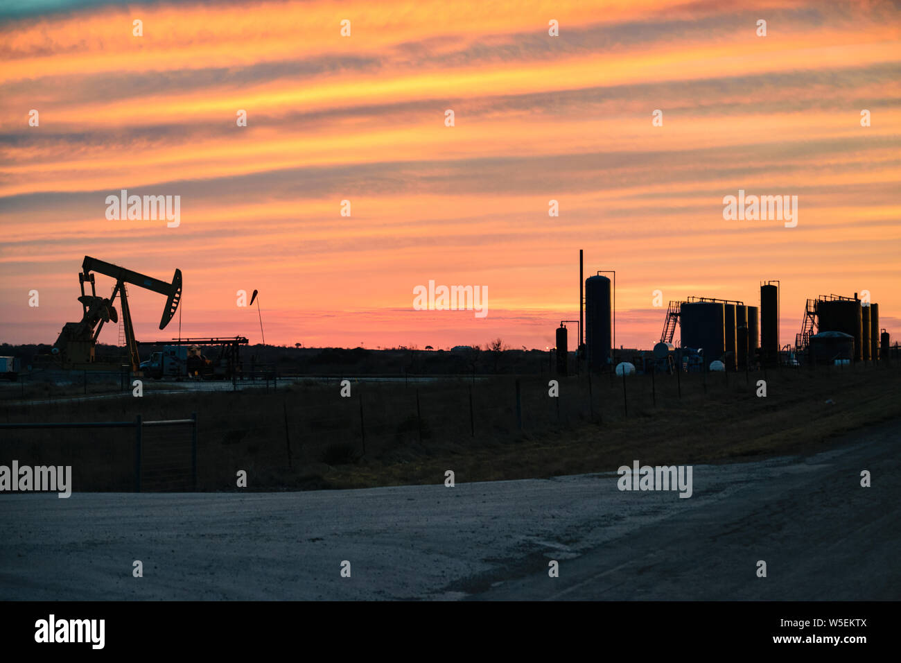 American Oil Well Stock Photo