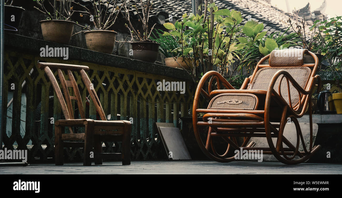 Peachy Chinese Style Wooden Chairs At Rural House In Fenghuang Old Ibusinesslaw Wood Chair Design Ideas Ibusinesslaworg