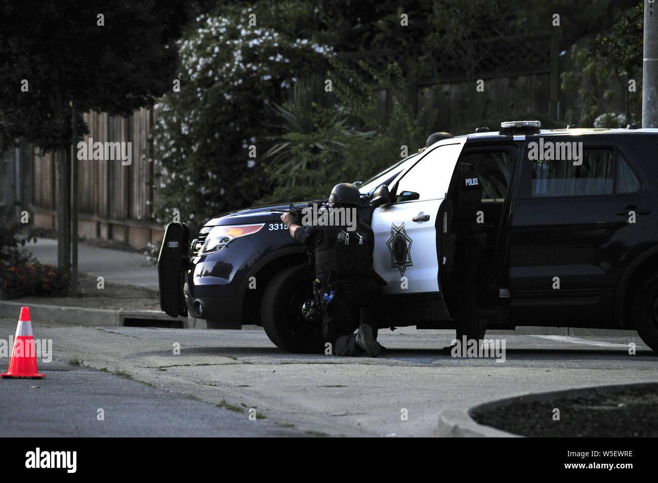 July 28, 2019, Gilroy, CA, USA: Gilroy, CA, U S  - San Jose Police