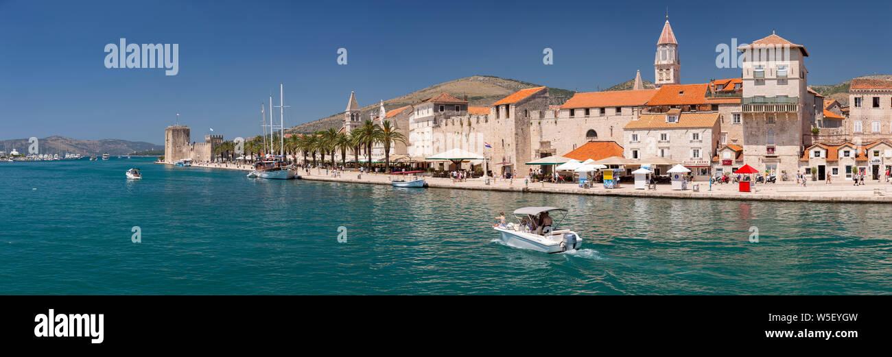 Panoramic view of Trogir on the Adriatic coast of Croatia Stock Photo