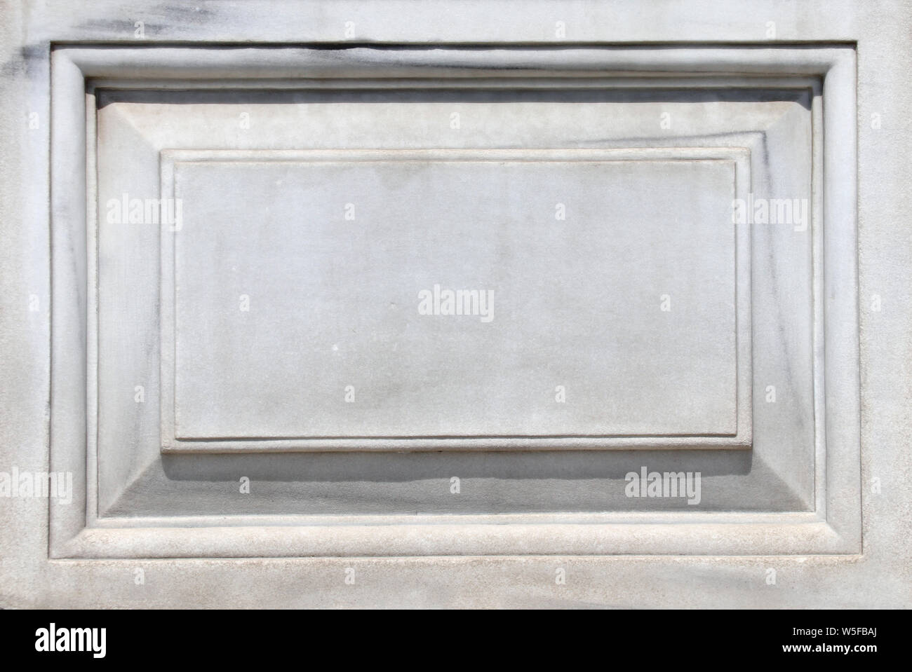 Old marble carved slab. Mock up template. Copy space for text Stock Photo