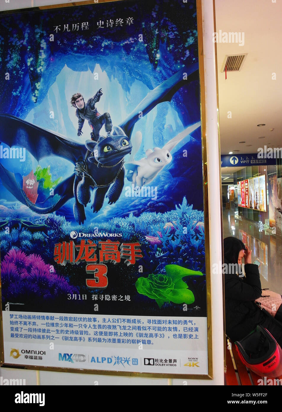 File View Of A Poster For The Movie How To Train Your Dragon The Hidden World At A Cinema In Yichang City Central China S Hubei Province 21 Fe Stock Photo Alamy
